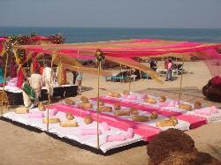 Dazzling beach wedding