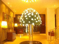 Florar decoration in entry