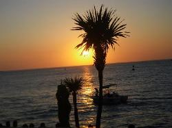 Key West sunset from restaurant
