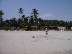 Der Strand vorm Hotel