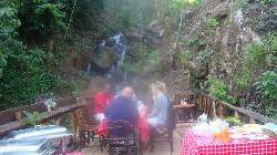 Breakfast by the Waterfall