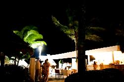 The beach bar for private event
