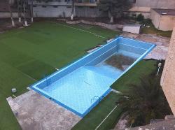 la soi-disant piscine vidée