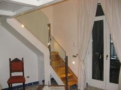 Stairs leading to the gallery floor