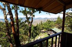 Vue du balcon de notre cabane