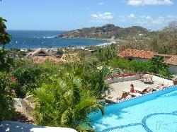View from the top pool