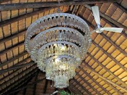 Coke bottle chandelier