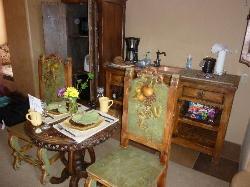 dining area inside the villa