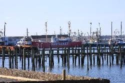 Nantucket Light Ship docked nearby