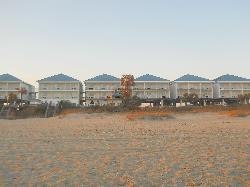 The Inn from the beach