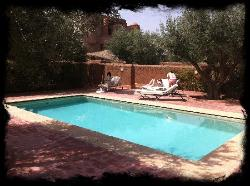 The private pool area with our suites