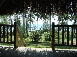 Seaside is seen from bungalow!
