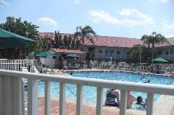 Pool with Tiki Bar at the far end