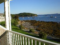 The shore path from room balcony