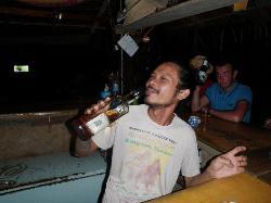Nit the great bartender at Little Hut Bar