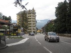 The hotel and the main road