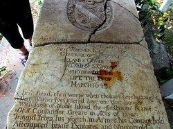 Sir Thomas Warner Gravestone