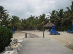 Looking from the water/beach area