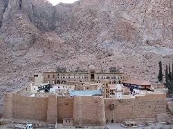 St Catharine's Monastery, Jebel Musa in background