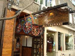 Entrance of a restaurant