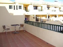 Huge double balcony