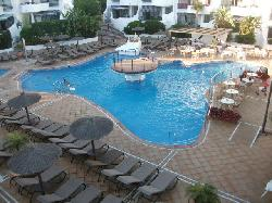 The main outdoor pool