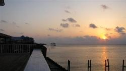 Dauphin Island sunset over the MS Sound