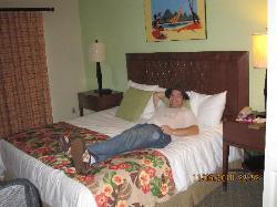 Hubby relaxing in room