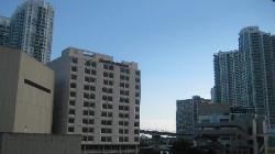 Hotel and suites from the metromover station