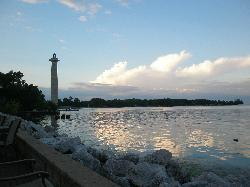 View of the Monument taken in front of the Tiki Bar