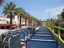 The open top bus ,great to cool down on