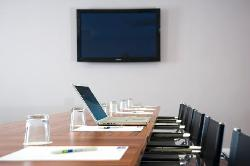 Air-conditioned Meeting Room with Flat Screen TV