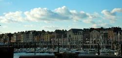 The harbor area.
