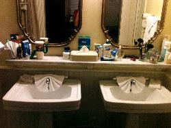 The sinks-perfect for mother and daughter!
