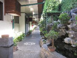 Hall way and outside of rooms