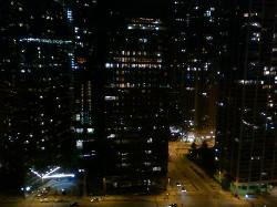 Night view from hotel room