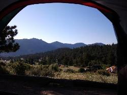 View from tent.