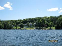 View of Sir Sam's from across the lake.