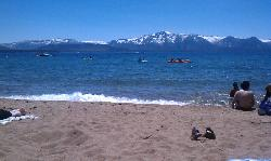 Lake Tahoe - 90 degrees, 60 degree water, snowy mountains, july 2nd!