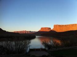 coucher de soleil sur le Colorado