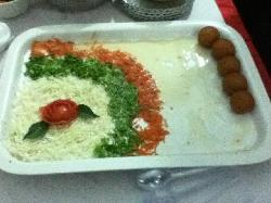 Gulab Jamun served with Salad. How weird could it get?