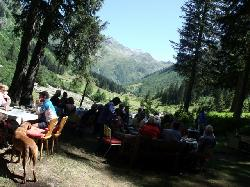 Lunch at Sardasca valley hunting lodge