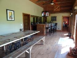 Wine tasting room and bar