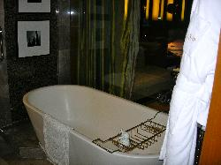 Tub in bathroom