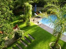 View of the pool and garden from upstairs