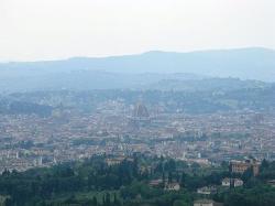 Vista di Firenze da Villa San Michele