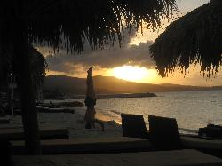 sunset at secrets, gorgeous beach