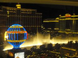 Bellagio fountains from our room