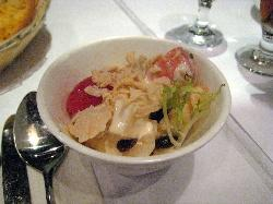 Nice fruit/pasta mixed salad - with set lunch
