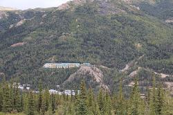 Denali lodge view from the Alaska train